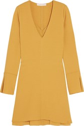See By Chloe Stretch Crepe Mini Dress Mustard