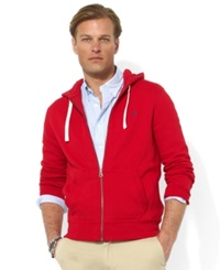 Polo Ralph Lauren Hoodie Core Full Zip Hooded Fleece Red