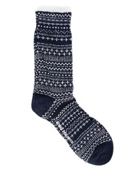 Norse Projects Blue Bjarki Jacquard Socks