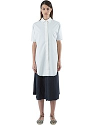 Alexa Stark Long Pleated Back Shirt White