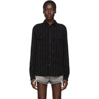 Saint Laurent Black Stripes Shirt