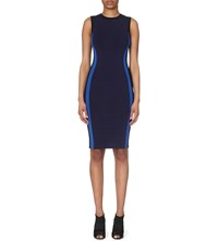 Karen Millen Color Block Bandage Dress Navy