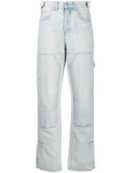 Off White Patch Detail Straight Jeans 60