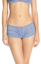 Heidi Klum Women's Intimates 'Dreamtime' Lace Boyshorts Colony Blue Teaberry