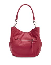 Liebeskind Jeany E Leather Hobo Bag Cherry Red