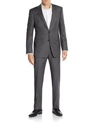 Calvin Klein Extreme Slim Fit Pinstriped Wool Suit Grey