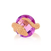Alexandra Alberta Gaia Amethyst Ring Rose Gold Pink Purple