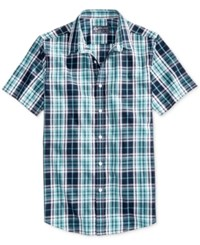 American Rag Men's Big And Tall Sinead Plaid Shirt Only At Macy's Bristol Blue 1