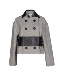 Atto Coats And Jackets Jackets Women Light Grey