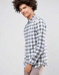 Selected Homme Flannel Check Shirt Blue