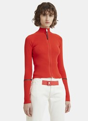 Alyx Roll Neck Zip Up Sweater Red