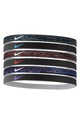 Nike Sport Headbands Blue 6 Pack Blue Crimson