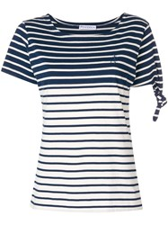 J.W.Anderson Jw Anderson Striped Knot T Shirt Blue