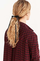 Urban Outfitters Victorian Slim Hair Bow Black