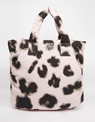 Cheap Monday Smudgy Leopard Puffer Shopper Bag Multi