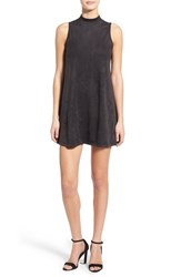 Women's See You Monday Mock Neck Faux Suede Shift Dress