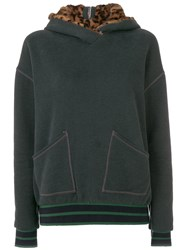 Mr And Mrs Italy Zipped Hoodie Green