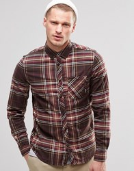 Element Buffalo Check Flannel Shirt Brown Bear Buttondown Brown