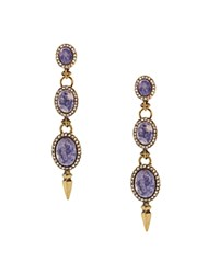 Sparkling Sage Three Tier Drop Earrings Compare At 72 Gold Blue