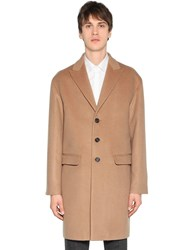 Dsquared Single Breasted Wool And Camel Blend Coat