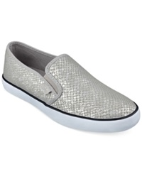 G By Guess Women's Malden Casual Slip On Sneakers Women's Shoes Silver Snake