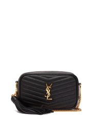 Saint Laurent Lou Mini Leather Cross Body Bag Black