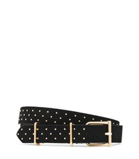 Reiss Theon Stud Studded Suede Belt In Black