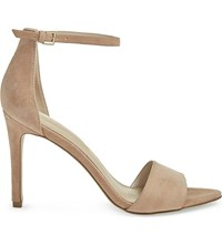 Aldo Fiolla Suede Heeled Sandals Natural
