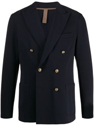 Eleventy Fitted Double Breasted Blazer 60