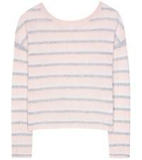 81 Hours Calanta Striped Cashmere Sweater Pink
