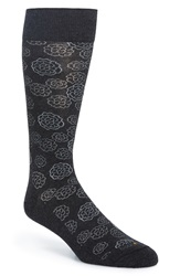 Hook Albert 'Bilbao' Floral Print Socks Black