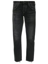 Citizens Of Humanity Distressed Emerson Jeans Women Cotton 25 Black
