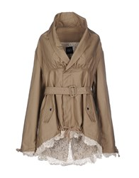 Twin Set Jeans Coats And Jackets Full Length Jackets Women Beige