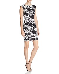 Necessary Objects Floral Texture Bodycon Dress Compare At 88 Black White