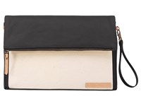 Petunia Pickle Bottom Glazed Color Block Crossover Clutch Birch Black Clutch Handbags Bone