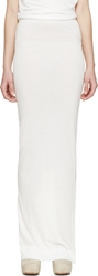 Rick Owens White Jersey Fold Over Skirt