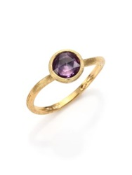 Marco Bicego Jaipur Amethyst And 18K Yellow Gold Ring Gold Purple
