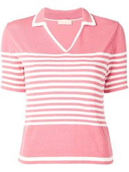 Drome Shortsleeved Polo Top Pink