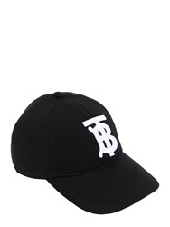 Burberry Embroidered Tb Baseball Hat Black