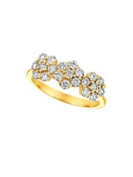 Morris And David Diamond 14K Yellow Gold Floral Ring