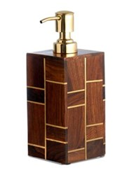 Kassatex Melrose Rosewood Lotion Dispenser Brown