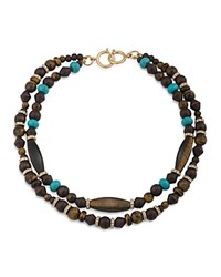 Ralph Lauren Two Strand Beaded Necklace 10 Multi