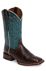 Ariat Men's Cowtown Cowboy Boot Chocolate Bullfrog Print