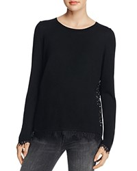 Generation Love Marjorie Lace Trim Sweater Black