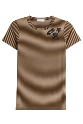 Sonia Rykiel Striped Cotton T Shirt With Embroidery Stripes