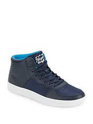 Penguin High Top Lace Up Sneakers Navy