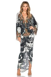 Camilla Twist Front Maxi Dress Black And White