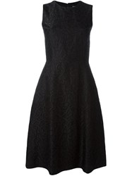Dolce And Gabbana Ribbon Applique Dress Black