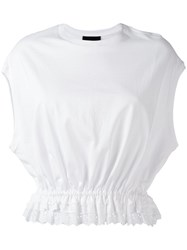 Simone Rocha Pleated Trim Top White