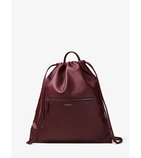 Dylan Leather Drawstring Backpack